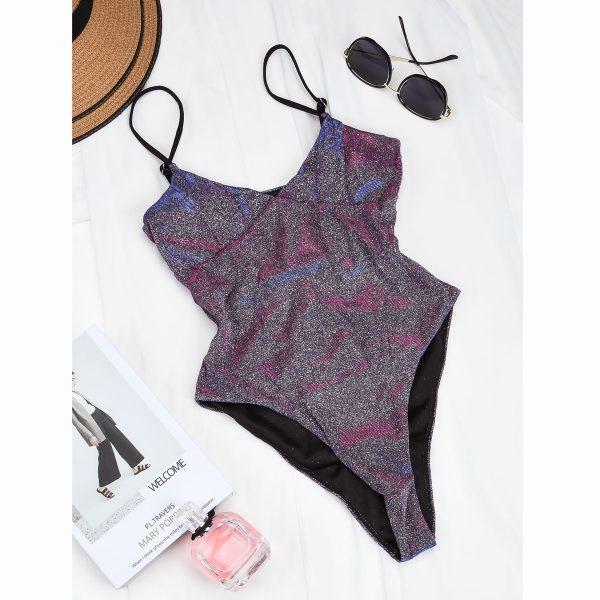 3 Color Sparkle One Piece Swimwear 4