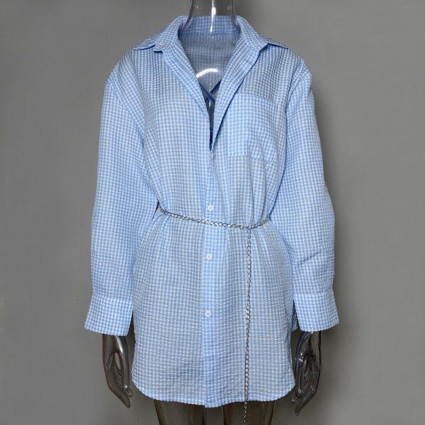 Turn-down Collar Button Up Shirts 4
