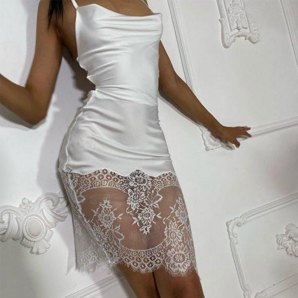 Backless Spaghetti Strap Bandage Midi Dress 3