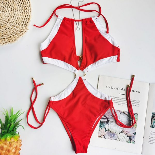 Push Up One Piece Swimsuit  4