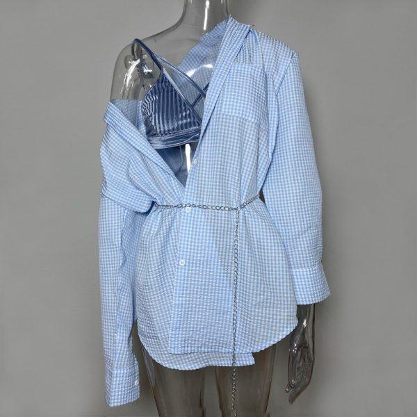 Turn-down Collar Button Up Shirts 3