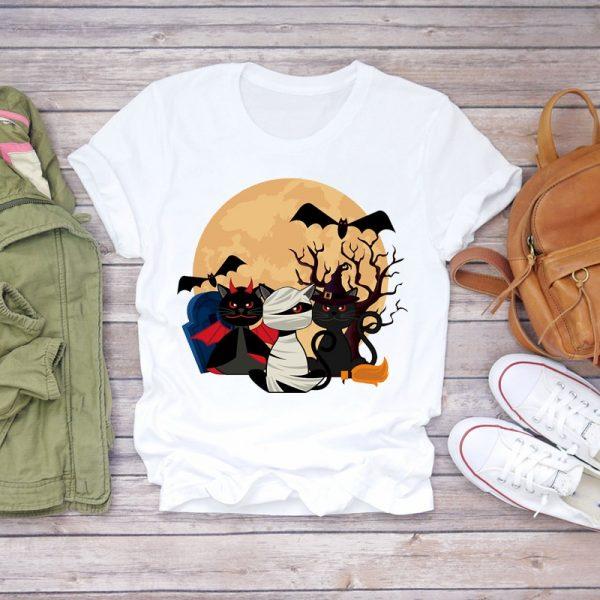 Funny Cat Print Women T-shirts 2